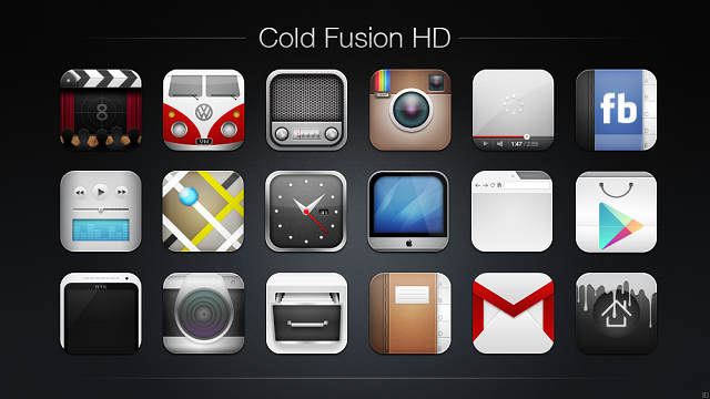cold fusion android icons