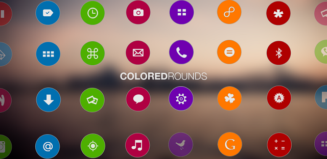 colorati tondi android icone