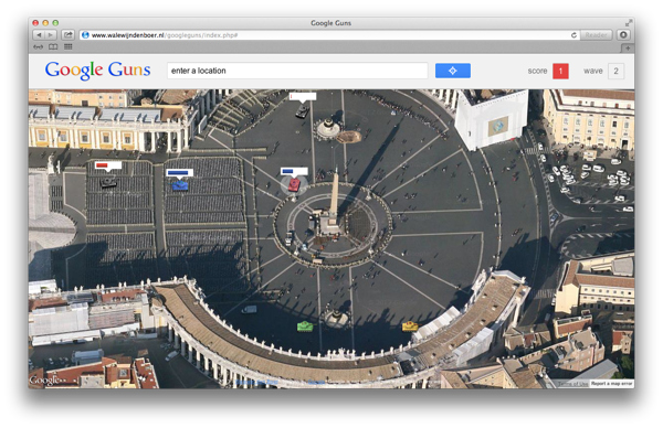 Google Guns Game