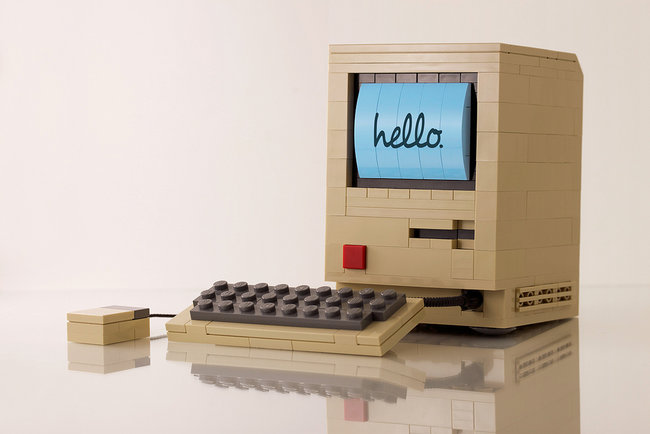 mac made out of lego