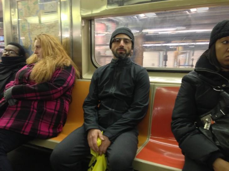 Sergey Brin Subway Google Glasses