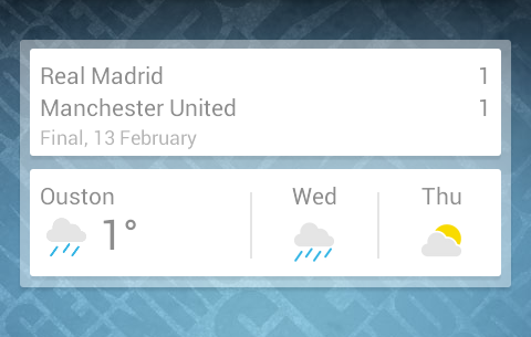 google now widget screenshot