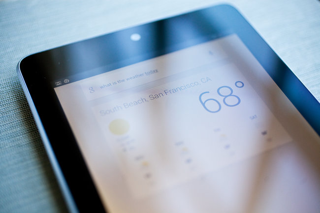 nexus tablet google now
