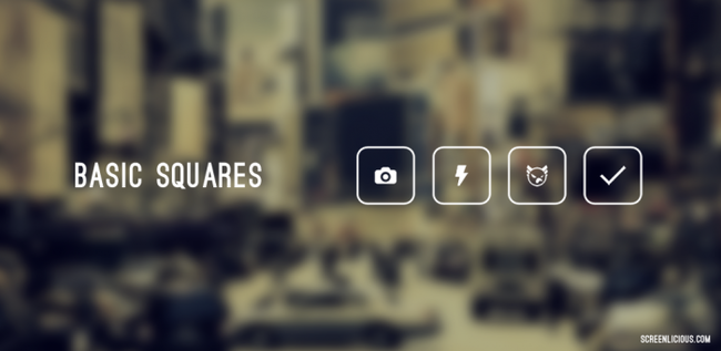 basic squares icon pack