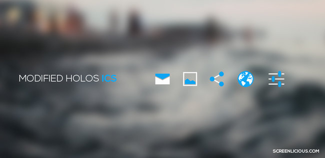 modified holo ICS icon android pack