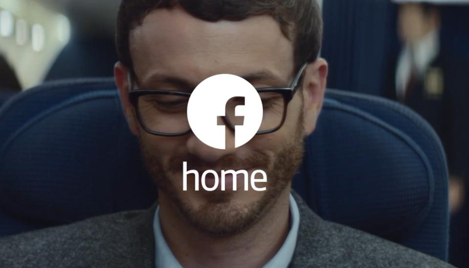 facebook home advert