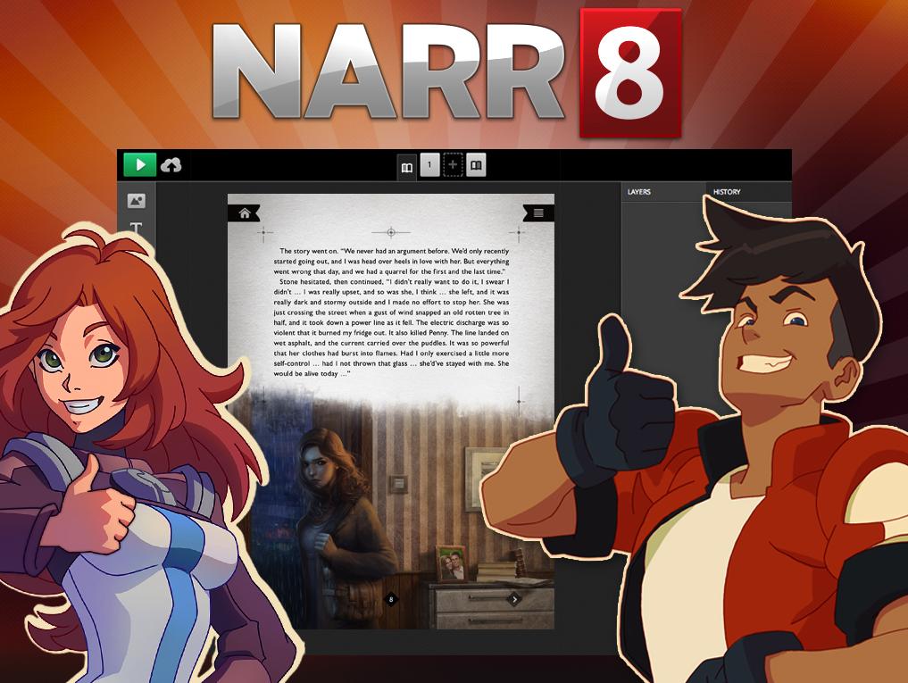 New NARR8's 'STORYBUILDER' Editing tool.