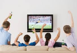 watching sport on tv