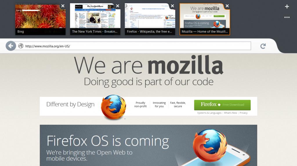 Firefox for Windows 8 screenshot