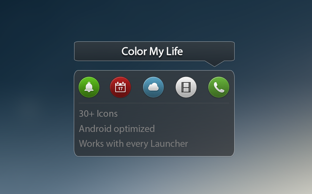color my life android icons