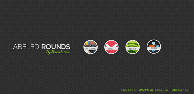labeled rounds icon pack