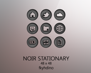 noir stationary icon pack