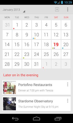 Google Calendar Android mock