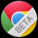 Google Chrome beta logo