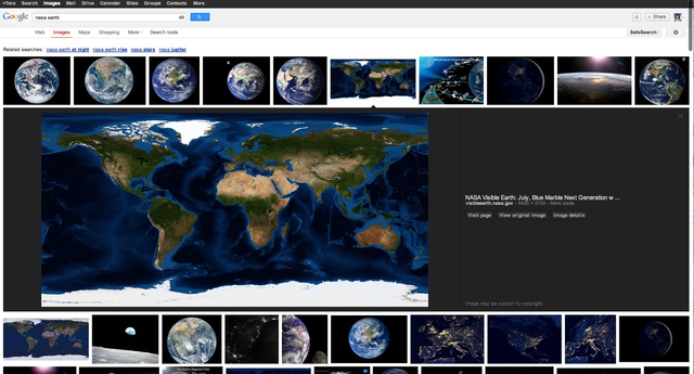 google images ui change
