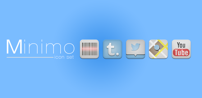 minimo android icon pack