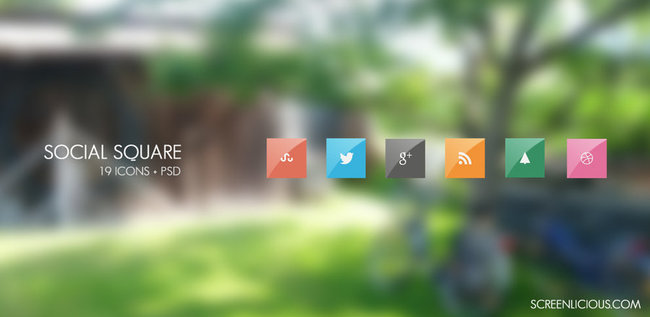 social square android icon pack