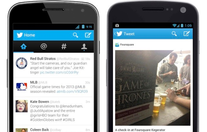 twitter for android update